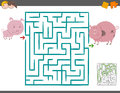 Maze leisure game with pigs
