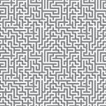 Maze ornament paper cut out seamless Royalty Free Stock Photo