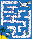 Maze plane journey Royalty Free Stock Photo