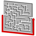 Maze puzzle solution Foto de Stock Royalty Free