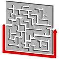 Maze puzzle solution Foto de Stock Royalty Free