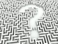 Maze with question sign Stock Photos
