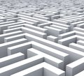 Maze Shows Problem Or Complexity