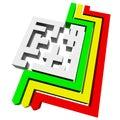 Maze square Stock Photo