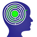 Maze think shows labyrinth difficulty and contemplating meaning complicated contemplate consideration Stock Images