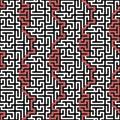 Maze vector seamless pattern orizzontale Fotografia Stock Libera da Diritti