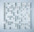 Maze on white background concept for decision making Stock Photo