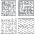 Mazes Royalty Free Stock Images