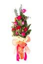 Mazzo delle rose del red pink Fotografia Stock