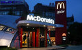 Mc donalds in china restaurant beijing cbd area the evening Stock Photography