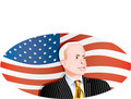 McCain Flag circle Royalty Free Stock Photography