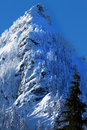 Mcclellan butte snow mountain cascade mountains snoqualme pass washington Royalty Free Stock Images