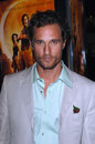 Mcconaughey matthew actor at the los angeles premiere of his new movie sahara at the grauman s chinese theatre hollywood april los Stock Photography