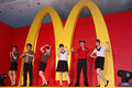 Mcdonalds recruit in taiwan held a press meeting to announce thousands of job positions in Royalty Free Stock Photo