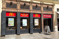 Mcdonalds restaurant valencia spain may mcdonald s on may in valencia spain mcdonald s is the world s largest fast food chain with Stock Photos