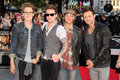 Mcfly one direction arriving for the this is us world premiere at the empire leicester square london picture by steve vas Royalty Free Stock Photography
