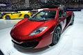 Mclaren mp c geneva motor show Stock Image