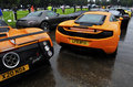 A McLaren MP4-12C and a Pagani Zonda Royalty Free Stock Photography