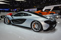 Mclaren p at the geneva motor show on display during switzerland march Stock Photo