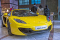 Mclaren roadcar on display sportscar canary wharf carshow Stock Photo