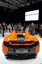 McLaren 650S Spider at the Geneva Motor Show Royalty Free Stock Photo