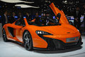 Mclaren s spider at the geneva motor show on display during switzerland march Royalty Free Stock Photography