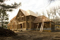McMansion house under construction Royalty Free Stock Photo