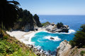 McWay Falls beach Royalty Free Stock Photo
