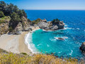 McWay Falls, Big Sur on Highway1 Royalty Free Stock Photo