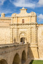 Mdina city gates the of in the south west of valletta Royalty Free Stock Images