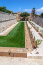 Mdina garden of the medieval city of in malta Stock Photography