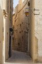 Mdina narrow street in malta Royalty Free Stock Photo
