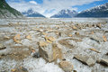 Meade glacier skagway ak june surface of part of the juneau icefield rapid melting caused by global warming climate change Stock Photo