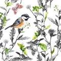 Meadow Flowers, Bird, Butterfl...