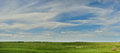 Meadow and sky panorama summer panoramic landscape made of photo Royalty Free Stock Photos