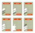 Meal calorie cards Royalty Free Stock Photo