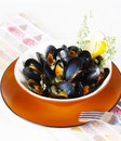 Meal from mussels Stock Photos