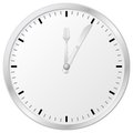 Mealtime vector illustration of a plain wall clock and time for lunch Royalty Free Stock Images