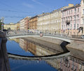 Mealy bridge in st petersburg on griboedov canal july built Royalty Free Stock Image