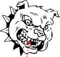 Mean dog illustration Royalty Free Stock Photo