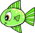 Mean fish Vector Illustration Royalty Free Stock Photo