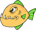 Mean fish Vector Illustration Royalty Free Stock Photography