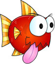 Mean Fish Vector Royalty Free Stock Photo