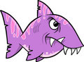 Mean Nasty Purple Shark Royalty Free Stock Photography
