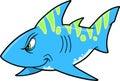 Mean shark Vector Royalty Free Stock Photo