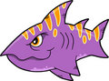 Mean shark Vector Illustration Royalty Free Stock Photo