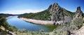 Meander of Tajo river Royalty Free Stock Photo