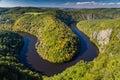 Meander of Vltava River - Teletin, Czech Republic Royalty Free Stock Photo