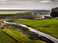 Meandering river near skogar iceland Royalty Free Stock Photos