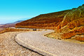 Meandering road in sand hills of judean mountains israel Royalty Free Stock Photography